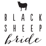 Up and Up Weddings - black sheep bride